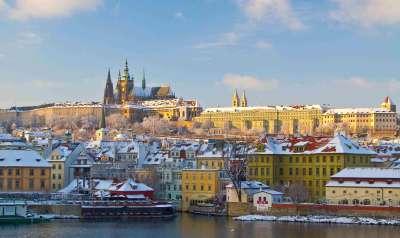 Praga Castelo no inverno
