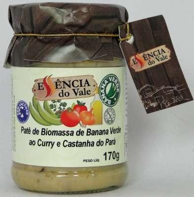 Caponata de casca de banana verde ao curry e castanha do para 170g Essencia do ValeM