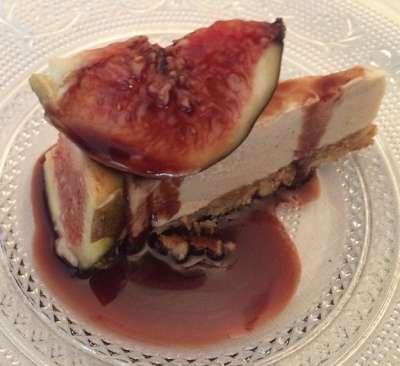 torta sorvete de mel com figo