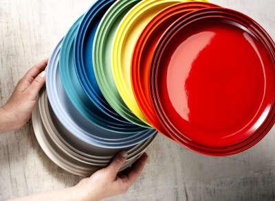 pratos coloridos
