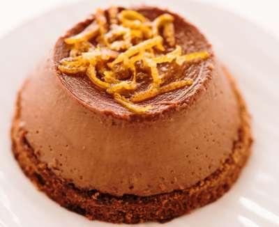 Pudim de Chocolate com Laranja Bahia - Business Class